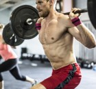 man doing crossfit lunges